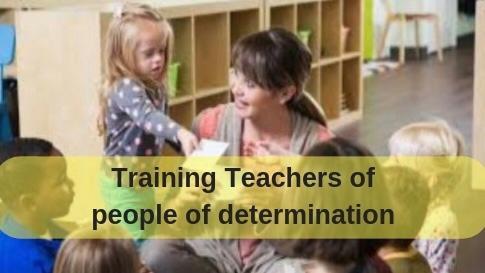 Training teacher of people of determination